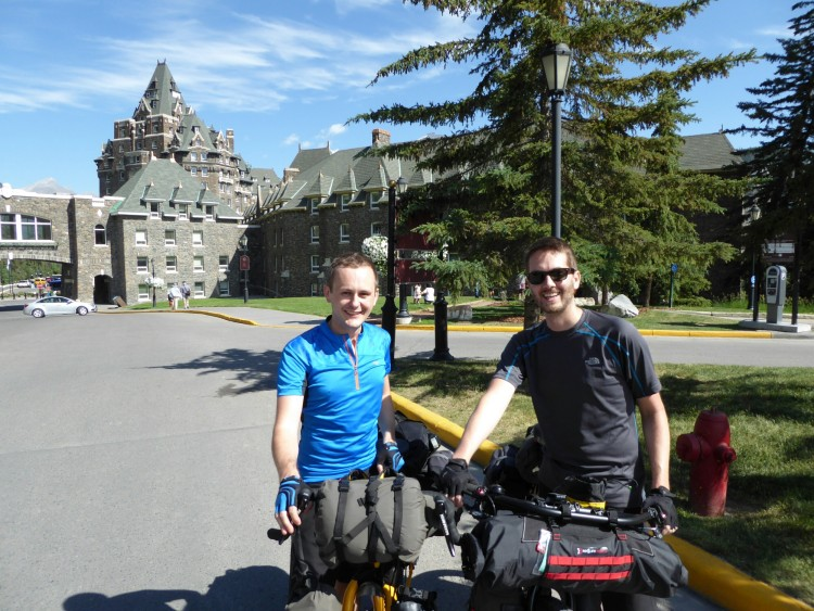 Beginning our ride at the Banff Springs hotel
